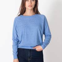 AMERICAN APPAREL- BR394 Tri-Blend Rib Light Weight Raglan Pullover