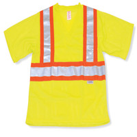 Lime Mesh 100% Polyester T-Shirt