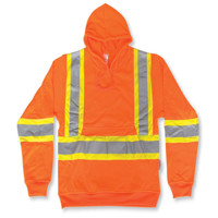 Orange Safety Hoodie 100% Polyester