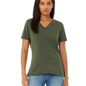 BELLA + CANVAS- 6405 Missy's Relaxed Jersey Short-Sleeve V-Neck T-Shirt Thumbnail