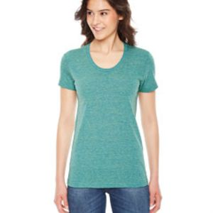 AMERICAN APPAREL- TR301 Ladies' Triblend Short-Sleeve Track T-Shirt Thumbnail