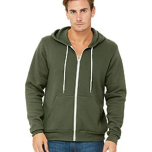BELLA + CANVAS- 3739 Unisex Poly-Cotton Fleece Full-Zip Hoodie Thumbnail