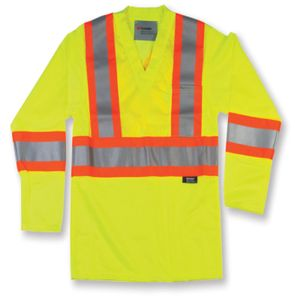 Lime Green High Visibility Polyester Mesh Safety Shirt   Thumbnail