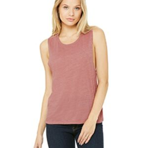 BELLA + CANVAS- B8803 Ladies' Flowy Scoop Muscle Tank Thumbnail